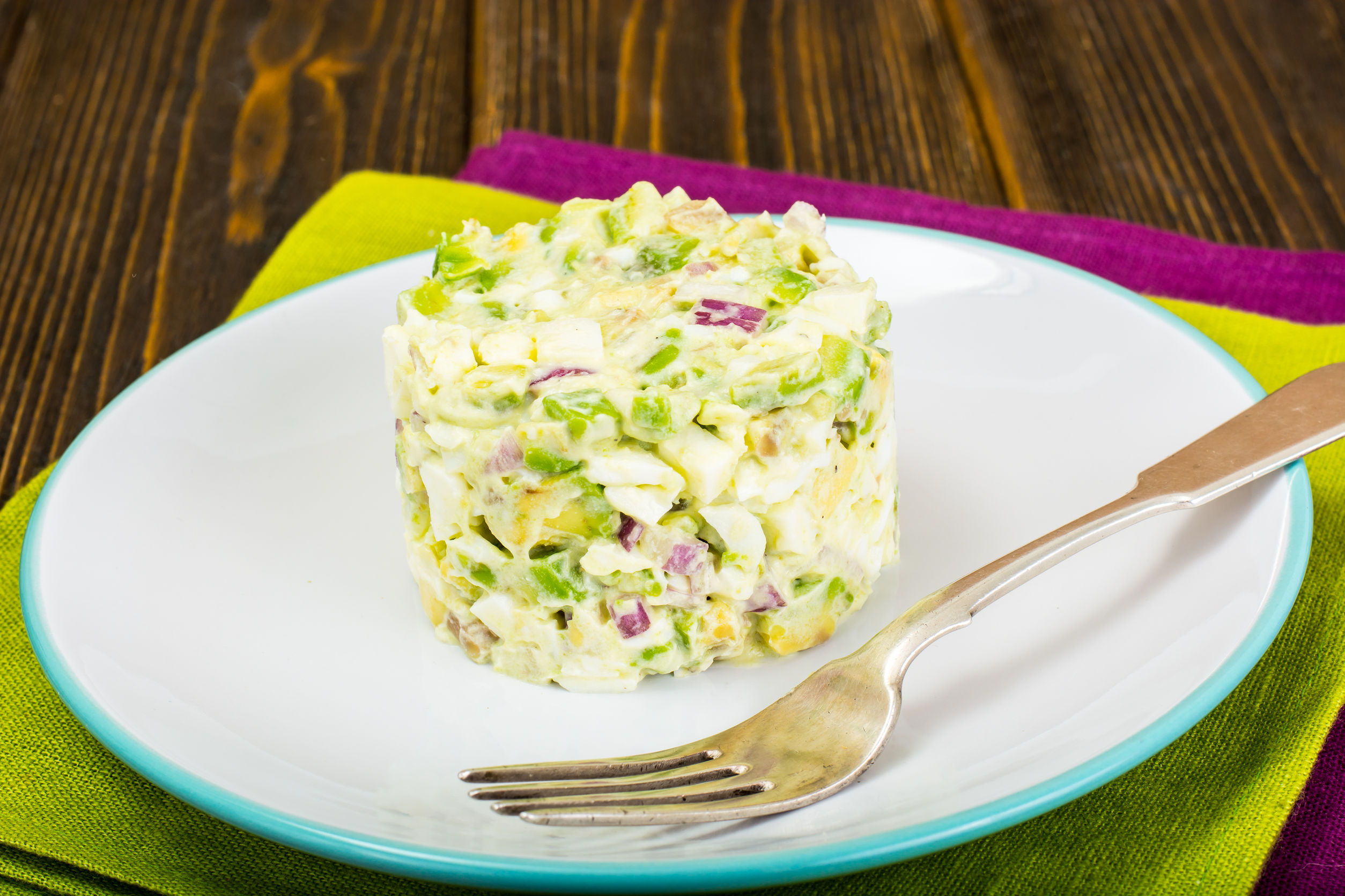Egg and avocado salad